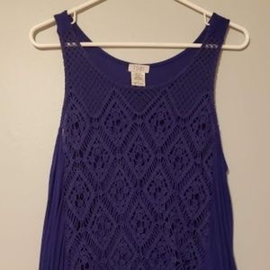 Royal Blue Lulu's Crop Top Tank Top